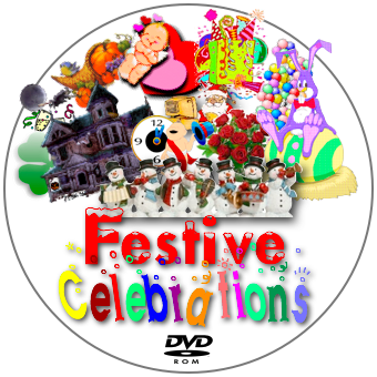 Festive Celebrations Disc Label