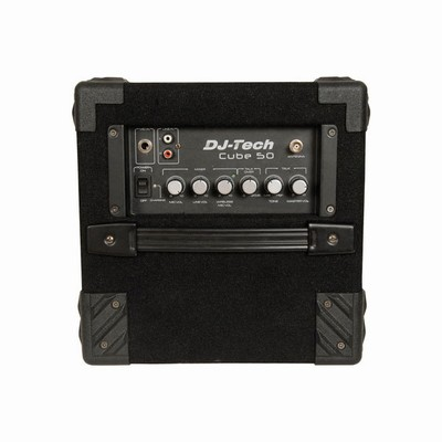 DJTECH Portable Rechargeable Speaker with Amplifier Controls