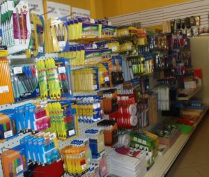 a good selection of stationery